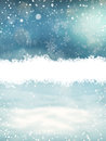 Christmas Landscape With Snow. EPS 10 Royalty Free Stock Photos - 82244978
