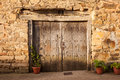 Old Door Of A Spanish House Royalty Free Stock Images - 82254779