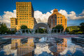 Fountains And Buildings At Pack Square Park, In Downtown Ashevil Royalty Free Stock Photos - 82255398