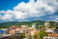 View Of Buildings In Downtown And Town Mountain, In Asheville, N Royalty Free Stock Photos - 82256008
