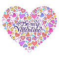 Colorful Valentines Card Royalty Free Stock Photos - 82268248