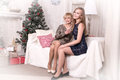 Nice Girls In The Room Before Christmas Royalty Free Stock Photos - 82293938