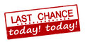 Last Chance Today Royalty Free Stock Photos - 82297868
