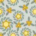 Yellow And Green Flower Pattern Stock Images - 8236494