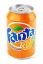Aluminum Can Of Fanta Royalty Free Stock Photos - 82310698