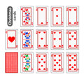 Cards Poker Set Christmas Icons. Color Red Heart. Santa Claus, Girl And Elf. Illustration . Use For The Site, Printing, Pape Royalty Free Stock Photo - 82319935