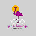 Vector Logo Flamingo Royalty Free Stock Images - 82321539