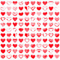 Red Heart Icons Royalty Free Stock Photo - 82333855