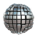 Metallic Cube Sphere Stock Image - 82342551