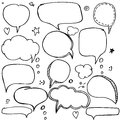 Set Of Hand Drawn Think And Talk Speech Bubbles With Love Message, Greetings And Sale Ad. Stock Photography - 82361172
