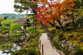 Trail Of Ginkakuji Temple At Autumn, Kyoto Royalty Free Stock Image - 82361656