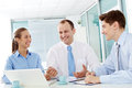 Interesting Discussion In Office Royalty Free Stock Photography - 82392007
