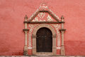 Door On The Typical Colonial Church In Huichapan Stock Image - 82396461