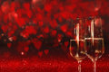 Valentines Day Background With Champagne Royalty Free Stock Photography - 82401037