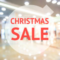Christmas Season Sale Sign Over Blurred Background Stock Photos - 82404303