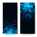 Vector Blue Glowing Light Glitter Background. Magic Glow Light Effect. Star Burst With Sparkles On Dark Background Royalty Free Stock Image - 82442576