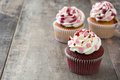 Valentine Cupcakes Decorated With Sweet Hearts Stock Images - 82484534