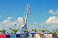 Industrial Harbor, Containers And Crane In Santa Cruz De Tenerife. Tenerife Port. Canary Islands, Spain. Stock Image - 82489271