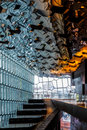 REYKJAVIK/ICELAND - FEBRUARY 4 : Interior View Of The Harpa Conc Royalty Free Stock Images - 82504499
