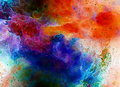 Cosmic Space And Stars, Color Cosmic Abstract Background. Fire Effect In Space. Royalty Free Stock Image - 82510456
