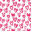 Hearts Pattern Red Icons For Valentine Day Art Stock Photos - 82526163