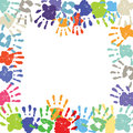 Children&x27;s Hand Print Border Royalty Free Stock Photography - 82527087