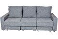 Convertible Sofa Bed With Color Grey Royalty Free Stock Photography - 82570987
