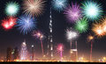 New Year Fireworks Show In Dubai, UAE Stock Images - 82572504