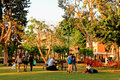 Local People Are Resting In The Sarona Park, Tel Aviv. Royalty Free Stock Image - 82586546