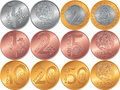 Set Obverse And Reverse New Belarusian Money Coins Royalty Free Stock Image - 82590826
