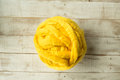 Yellow Merino Wool Ball Stock Images - 82602664