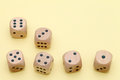 Many Wooden Dice Stock Photography - 82610952