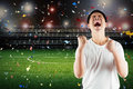Asian Football Fan Celebrate Royalty Free Stock Images - 82655979