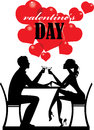 Silhouette People, Valentine's Day, Man And Woman Couple, Lover Pair, Romantic Day Stock Photography - 82657742