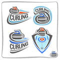 Vector Abstract Logo Curling Stone Royalty Free Stock Photo - 82657835