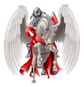 Knight On Pegasus Horse Royalty Free Stock Photo - 82660725