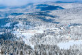 Panorama Of Ski Resort Kopaonik, Serbia, Mountains View, Houses Covered With Snow Royalty Free Stock Photos - 82691818