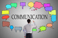 Communication Concept Drawn By A Businessman Royalty Free Stock Image - 82707926