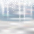 Light Silver And White Christmas Background With Icicle Snowfall Royalty Free Stock Photos - 82708418