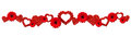 Garland With Glitter Hearts Royalty Free Stock Image - 82727116