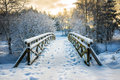 Snowy Little Bridge 3 Stock Image - 82733711