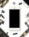 Smartphone Components Isolate On White Stock Photography - 82742042