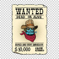 Steampunk Robot Cowboy Wild West Bandit Alive Or Dead Stock Photography - 82753112