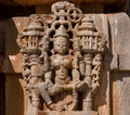 Hindu Goddess Lakshmi On The Ancient Front Of Traditional Indian Stone Temple. Rajasthan Stock Photos - 82769023