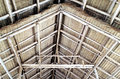 Details Of Thatched Wooden Gable Roof Structure. Royalty Free Stock Photography - 82770747