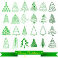 Christmas Trees Greeting Card. Vector Stock Photo - 82773740
