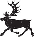 Silhouette Of Deer Stock Photography - 82774282