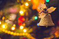 Jingle Bell, Christmas Tree Branches. Royalty Free Stock Photo - 82794745