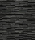 Black Bricks Slate Texture Background, Slate Stone Wall Texture Royalty Free Stock Images - 82802999