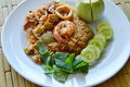Spicy Fried Rice Prawn And Pork With Eggplant In Shrimp Paste Sauce On Plate Stock Photo - 82806130